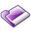 64x64px size png icon of Folder violet