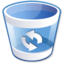 64x64px size png icon of Trashcan empty