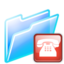 64x64px size png icon of connection folder