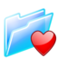 64x64px size png icon of favourites folder