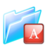 64x64px size png icon of font folder