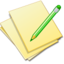 64x64px size png icon of Documents yellow edit