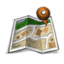 64x64px size png icon of map