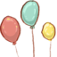 64x64px size png icon of Hp balloons