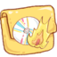 64x64px size png icon of Hp folder burn