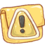 64x64px size png icon of Hp folder caution