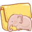 64x64px size png icon of Hp folder elephant
