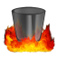 64x64px size png icon of Hell TrashEmpty