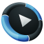 64x64px size png icon of Media Player Inverse