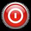 64x64px size png icon of Aqua Shutdown