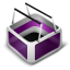 64x64px size png icon of Cart Purple