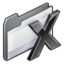 64x64px size png icon of folder   system os x
