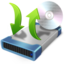 64x64px size png icon of cd burner copy