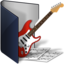 64x64px size png icon of folder blue music