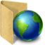 64x64px size png icon of folder network