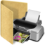 64x64px size png icon of folder printer
