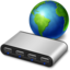 64x64px size png icon of network usb hub