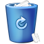 64x64px size png icon of bin blue