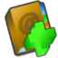 64x64px size png icon of Adressbook add