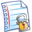 64x64px size png icon of File locked