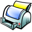 64x64px size png icon of File print
