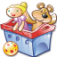 64x64px size png icon of Package toys