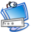 64x64px size png icon of Rename computer