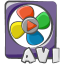 64x64px size png icon of filetype movie avi