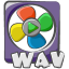 64x64px size png icon of filetype movie wav
