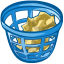 64x64px size png icon of trash basket full