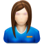 64x64px size png icon of user female