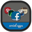 64x64px size png icon of folders social