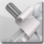 64x64px size png icon of Applescript White