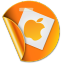 64x64px size png icon of apple sticker