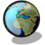64x64px size png icon of world
