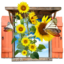 64x64px size png icon of Flowers Sunflowers Window