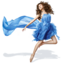 64x64px size png icon of Girls Blue Dress