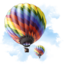 64x64px size png icon of Travel Baloon