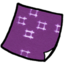 64x64px size png icon of Document purple