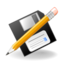 64x64px size png icon of Actions file save as