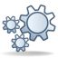 64x64px size png icon of Actions gear