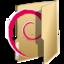 64x64px size png icon of Folder debian