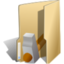 64x64px size png icon of Folder development hammer