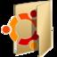 64x64px size png icon of Folder ubuntu