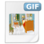 64x64px size png icon of Mimetypes gif