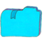 64x64px size png icon of Osd folder b bookmarks 1