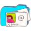 64x64px size png icon of Osd folder b contacts