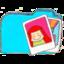 64x64px size png icon of Osd folder b photos
