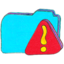 64x64px size png icon of Osd folder b warning