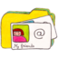 64x64px size png icon of Osd folder y contacts